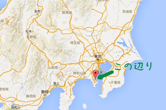 横須賀の地図の場所