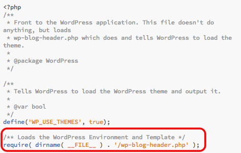 index.phpファイルの編集